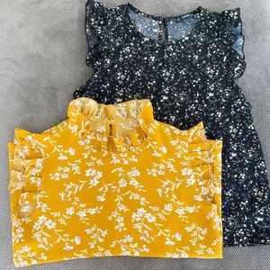 Lot of 2 ♥️Shein Summer Sleeveless Tops size:Small